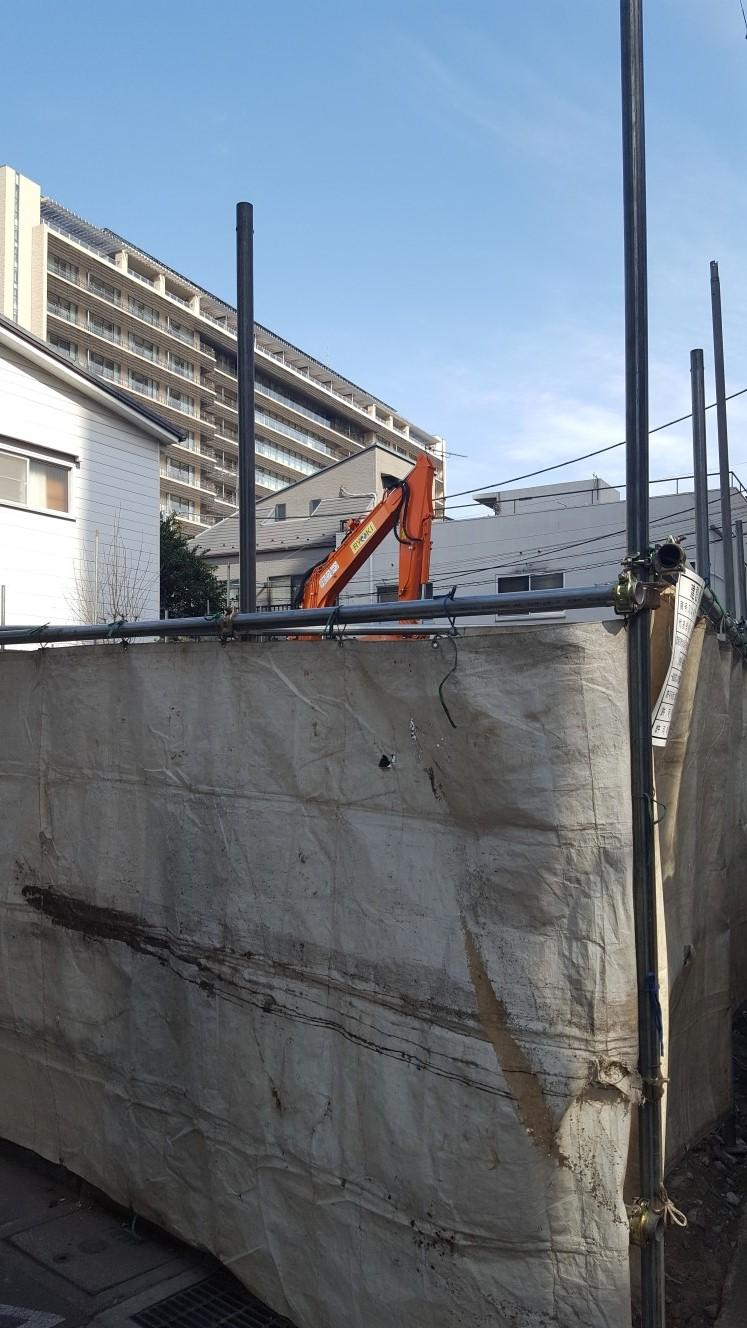 用地買収後の解体工事