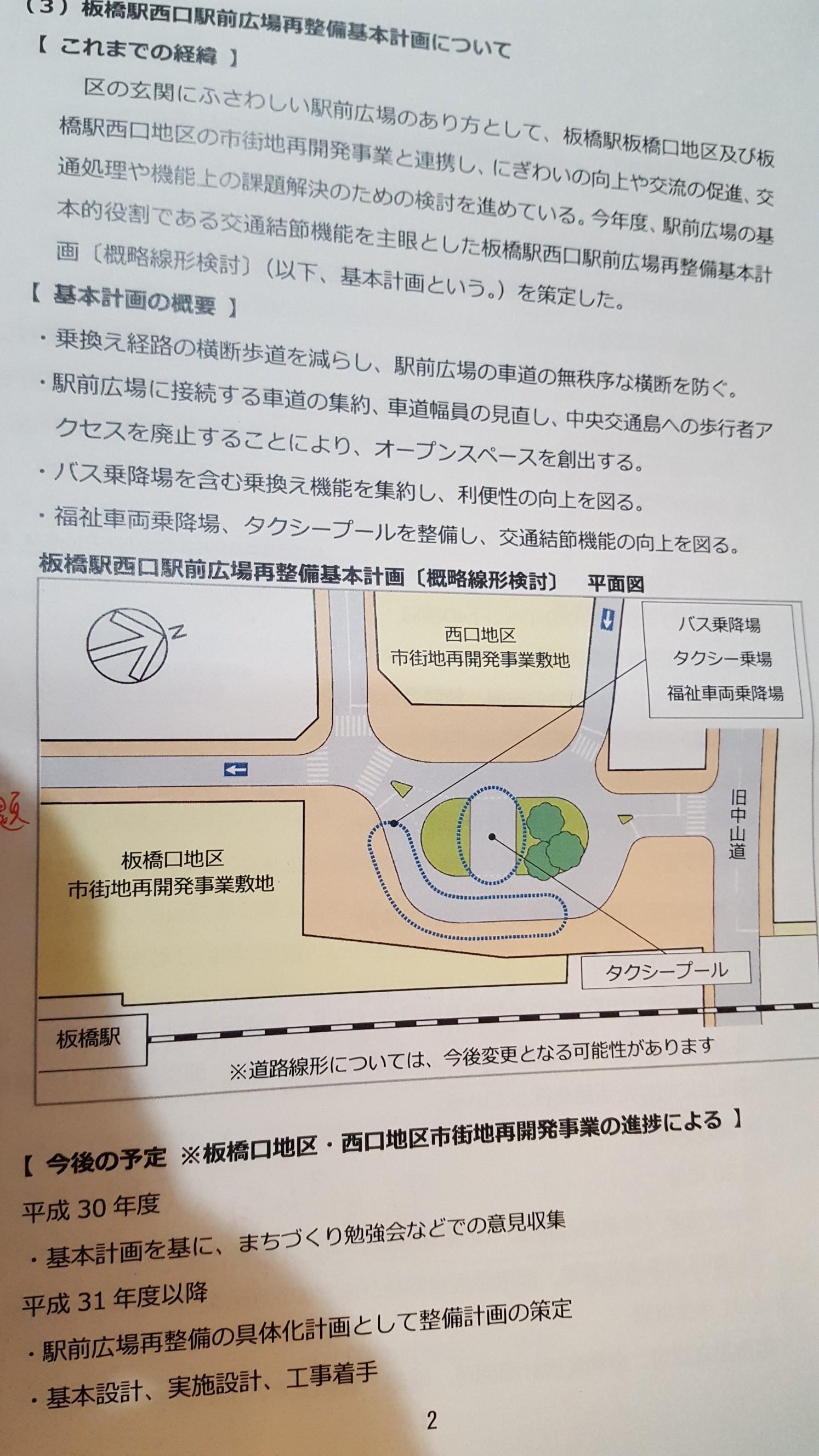 JR板橋駅広場図