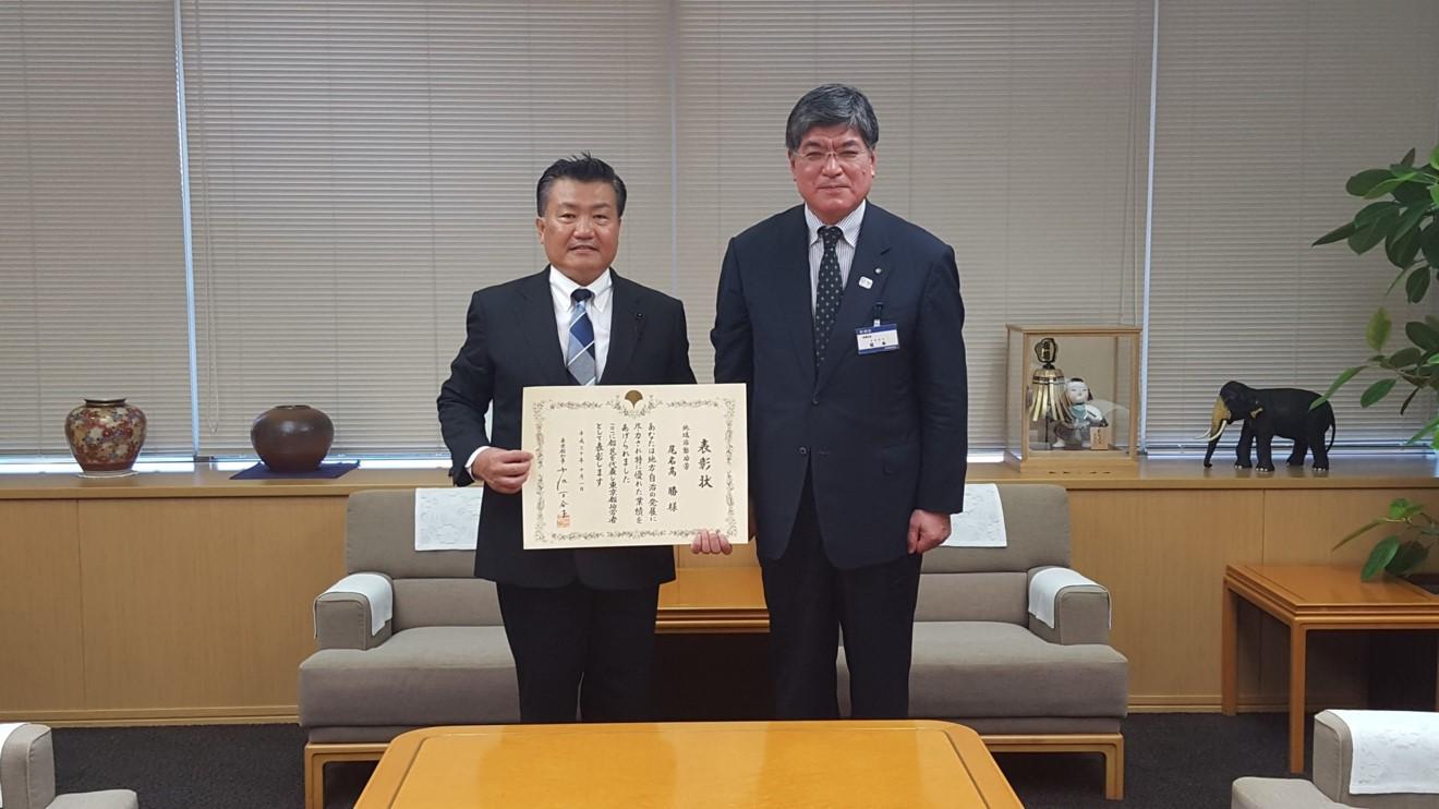 坂本健板橋区長にご報告をしました。