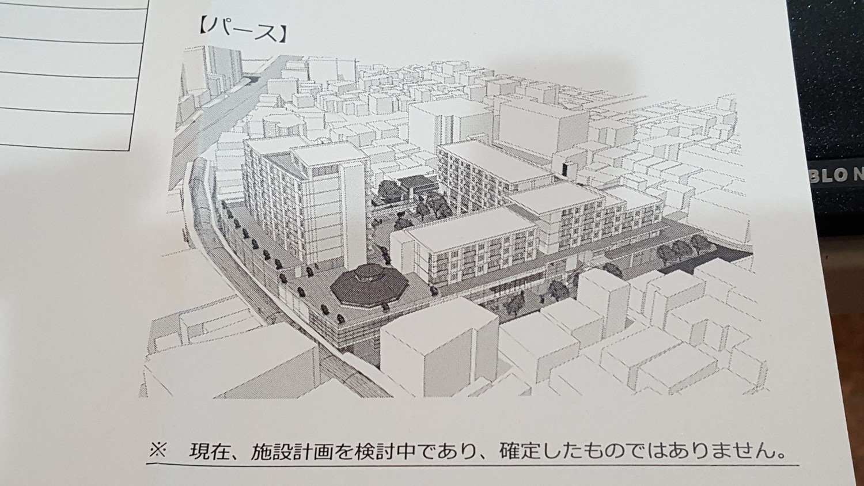 2016年6月時点でのピッコロスクエアの再開発イメージ