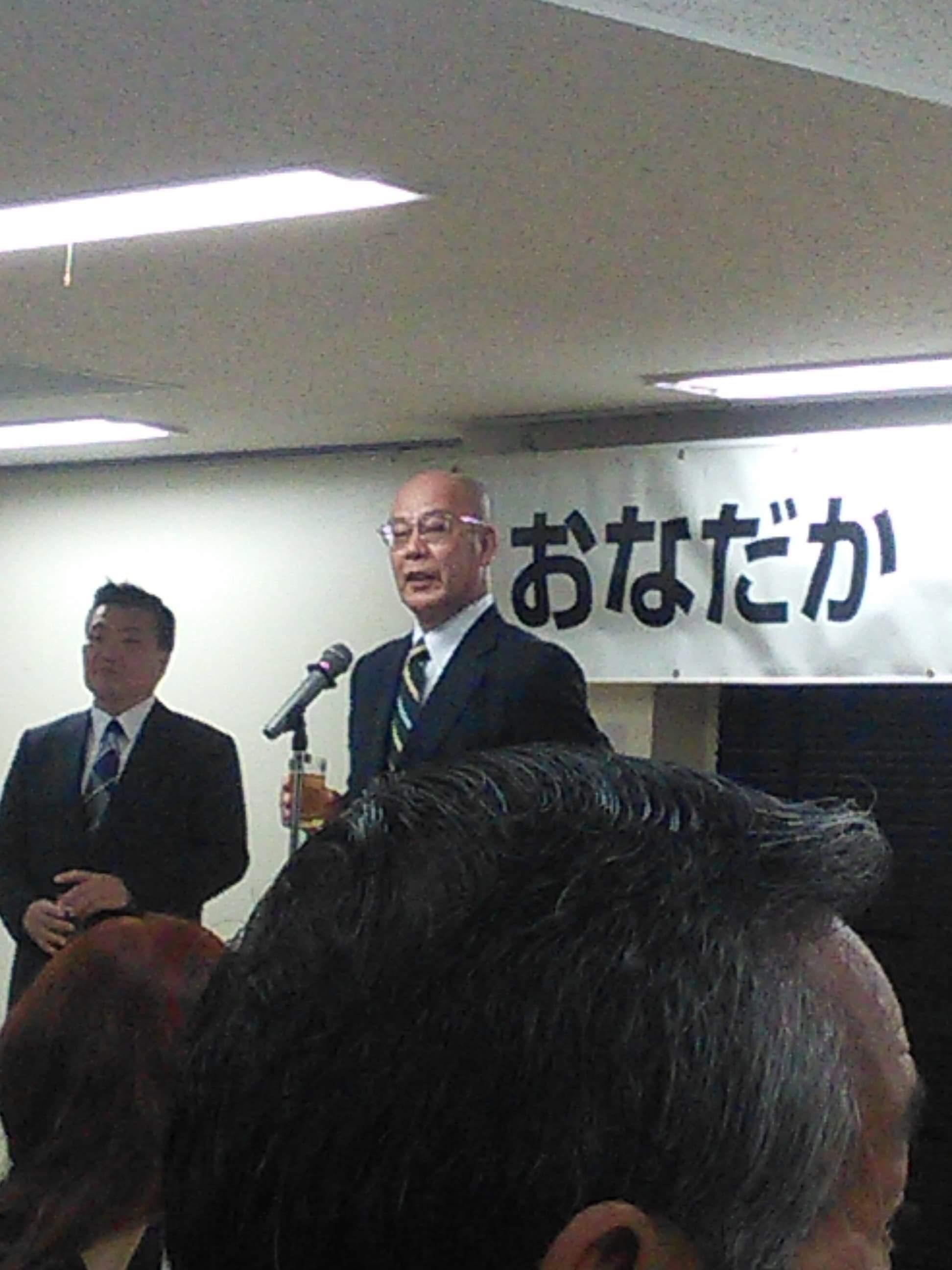 乾杯の発声は板橋区剣道開放団体連合会 渡部増男会長